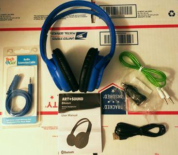 1 NEW Bluetooth Wireless Hybrid Headphones FREE SHIPPING