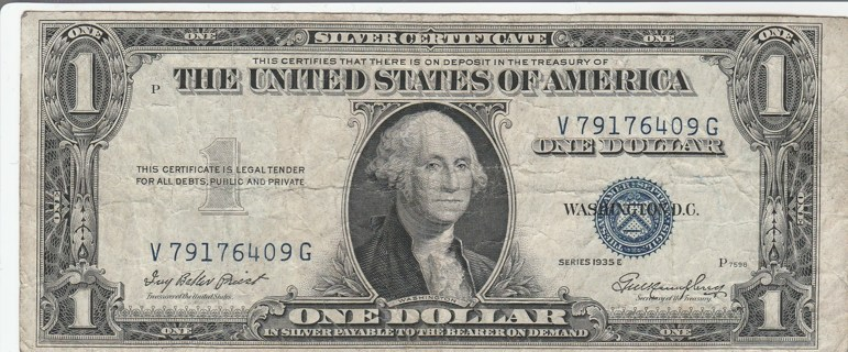 Silver Series 1935-E $1 Cert. #79176409