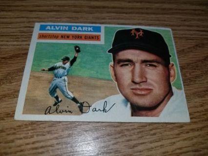 1956 Topps Baseball Alvin Dark #148 New York Giants,VGEX condition,Free Shipping!