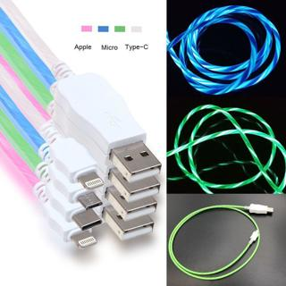 Flowing LED Glow Light USB Data Sync Charge Cable for iPhone Samsung Android