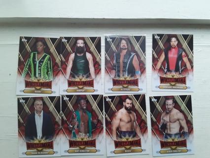 8 -- 2019 WWE WRESTLING CARDS