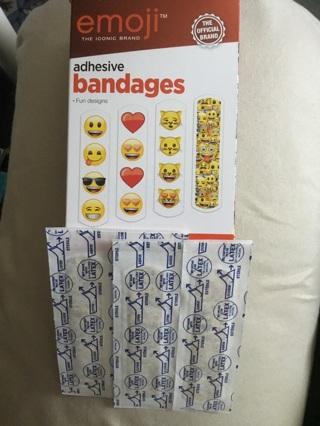 **4pcs ~ EMOJI ~ Adhesive Bandages