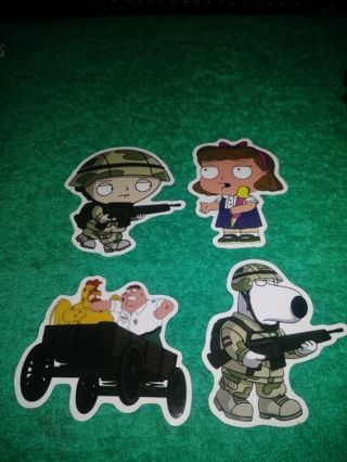 """❤✨❤✨❤️4 BRAND NEW ASSORTED """"FAMILY GUY"""" STICKERS❤✨❤✨❤#2"""
