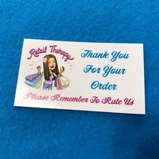 Retail Therapy Thank You Cards