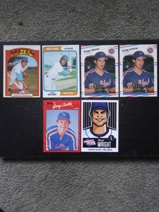 70'-2012 N.Y. Mets Lot of 6 (Jeffries, Milner, Carter + More)