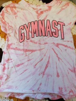 Justice active gymnast shirt Shirt Girls Size 10