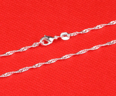 ...MAKE YOUR NECK GLITTER! 20 INCH  STAMPED S925 wAVE STYLE NECKLACE