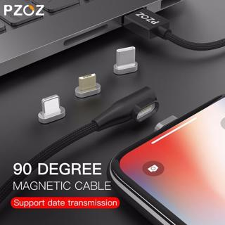 PZOZ 90 degree Magnetic Cable usb c Micro usb Type C Fast Charging Microusb Type-C Magnet Charger