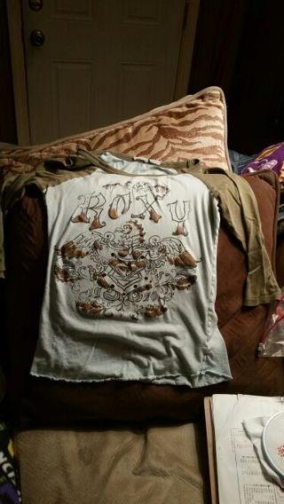 Roxy long sleeve shirt size extra small