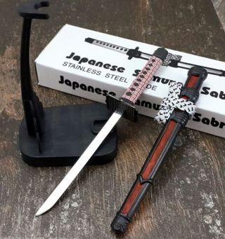 """8"""" JAPANESE SAMURAI SWORD LETTER OPENER Ninja Katana Scabbard Stand Knife NE"""