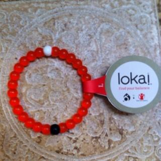 Lokai Bead Bracelet Large in RED