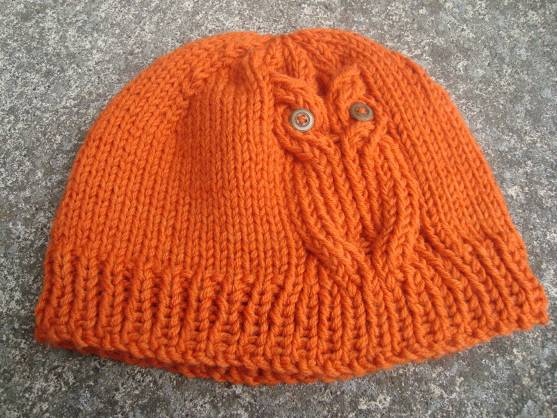 Knitting Pattern For Owl Beanie : Free: Owl hat KNITTING PATTERN - Knitting - Listia.com Auctions for Free Stuff