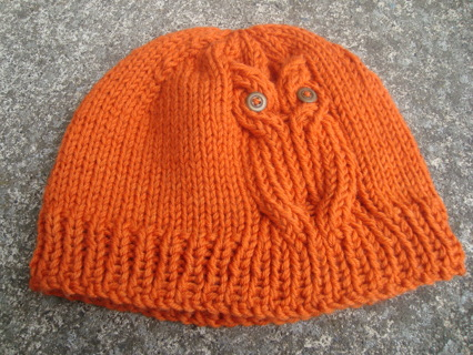 Free Owl Hat KNITTING PATTERN Knitting Listia Auctions For Simple Free Owl Hat Knitting Pattern