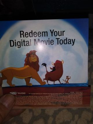 The lion king digital movie code