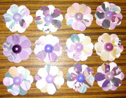 "12 1"" Paper Flowers"