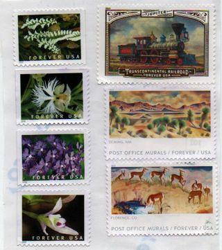 3 forever stamps - you choose - L@@K