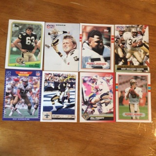 (18) New Orleans Saints Football Cards Lot