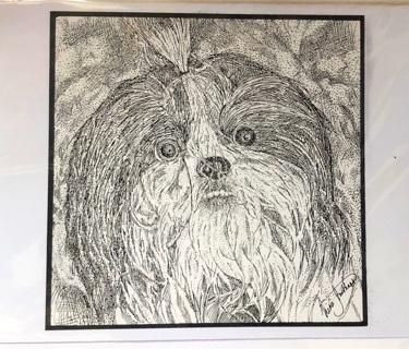 """Shih'tzu Dog - 5 x 7"""" Art Card by Nina - GIN ONLY"""