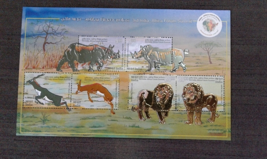 "Nice METAL-EMBOSSED ""wildlife"" stamps"