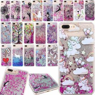 Dynamic Liquid Glitter Quicksand Pattern Hard Case Cover For iPhone X 6 7 8 Plus