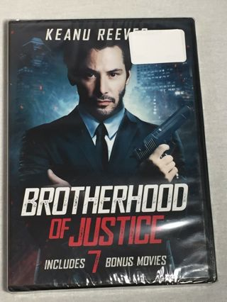 Echo Bridge Keanu Reeves Brotherhood of Justice + 7 Bonus Dvd Movies 8 Total Rated R-New & Sealed