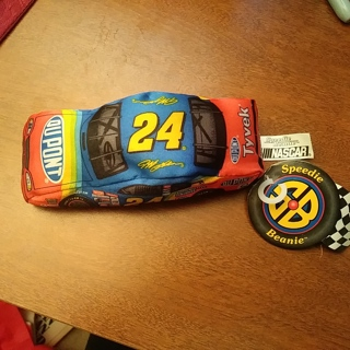 Nascar Speedie Beanie Toy Car #24