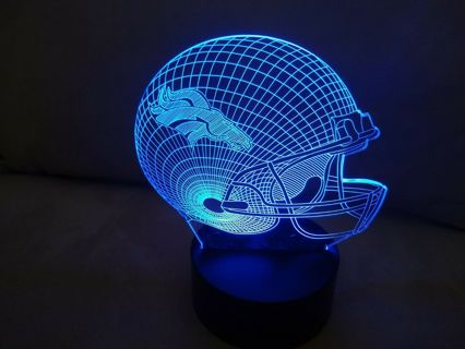 Denver Broncos 3D Multi Color Lamp