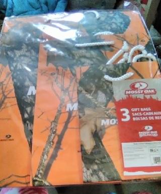 New-3 Sizes Orange Camo Bags