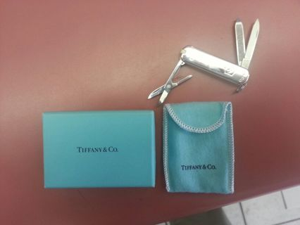 Free Sterling Silver Tiffany Brand Swiss Army Pocket