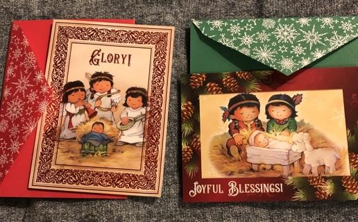 Two Beautiful Lakota Holiday Greeting Cards With Matching Envelopes