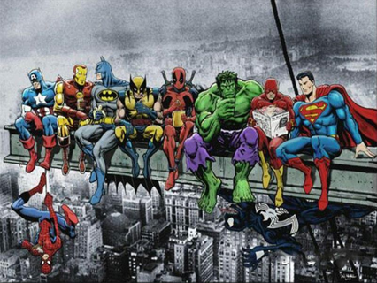 5d diy diamond painting Deadpool Superhero Justice League and Marvel Embroidery