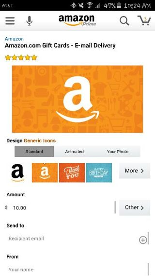 Amazon $10 Egift Card