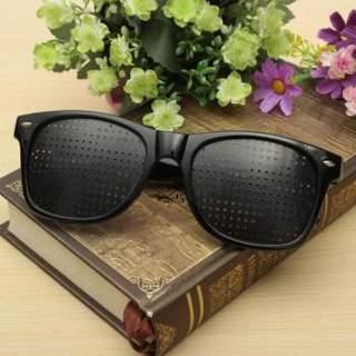 New Black Eyesight Improver Anti-fatigue Vision Care Stenopeic Pinhole Glasses