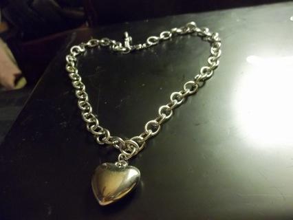 Beautiful Puffy Heart Necklace