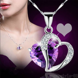 Heart Silver Chain Pendant Necklace Jewelry