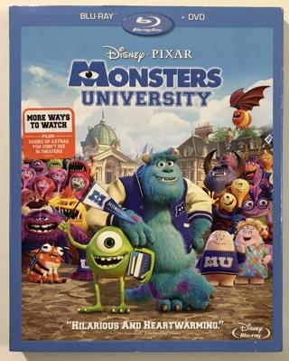 Disney Pixar Monsters University Blu-ray + DVD 3-Disc Combo Movie - Mint Discs!