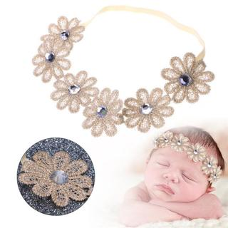 Cute Newborn Girls Baby Toddler Kids Elastic Flower Headband Hair Band Headwear