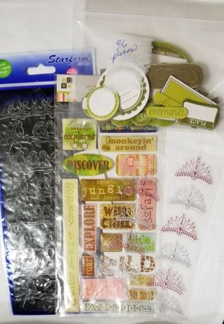 Stickers and Scrabooking items