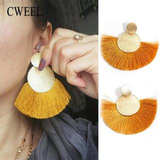CWEEL Tassel Earrings for Women Fashion Wedding Party Statement Bohemian Drop Earings Long Vintage