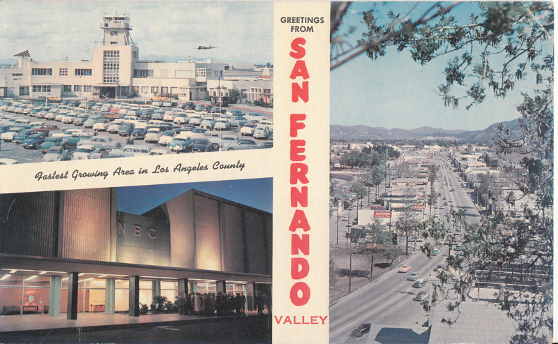 "Free: Giant Postcard 6""x9""ish, San Fernando Valley, Cal ..."