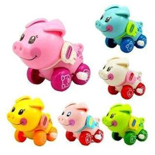 Clockwork funny toy cartoon pig clockwork car educational toys gift SN