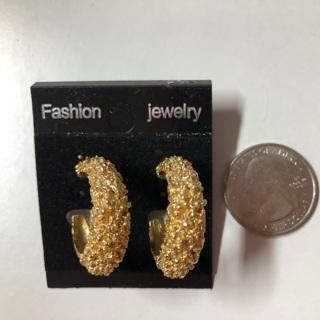Gold Pierce Earrings