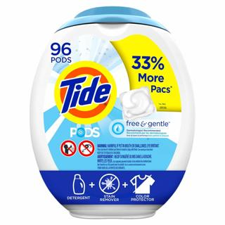 Tide PODS Free & Gentle (or Any Other Variety) HE Turbo Laundry Detergent For a Short Time 96 Pods