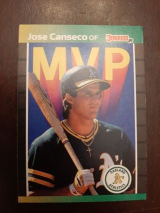 1989 Donruss Jose Canseco