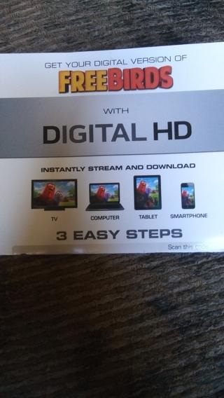 Free Birds Movie Ultra Violet Digital HD Code