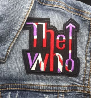 The Who Embroidered Iron On Patch FREE SHIPPING