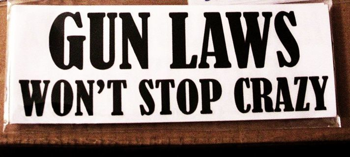 NEW DECAL STICKER Gun Laws Wont Stop Crazy Vinyl Sticker Car SUV Bumper FREE SHIPPING