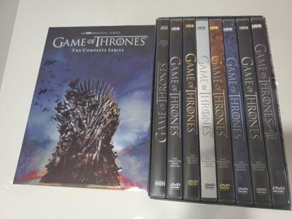 Game of Thrones: The Complete Series Season 1-8 (DVD,38-Disc Box Set) USED