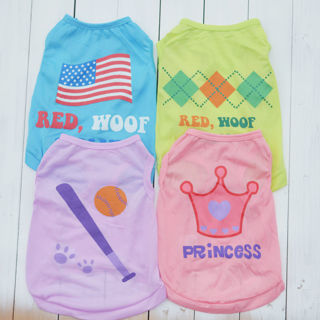 [GIN FOR FREE SHIPPING] Small Dog Cat Pet Summer Vest Puppy Cotton T Shirt Apparel