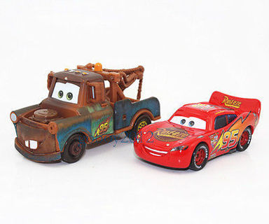 free friction powered cars lightning mcqueen tow mater car toy kids gift